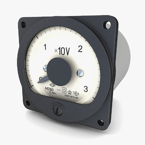 vintage ussr ac voltmeter 3D model