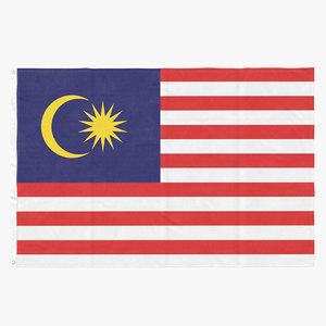 3D flag laying pose malaysia