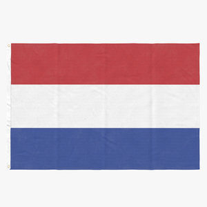 flag laying pose netherlands 3D