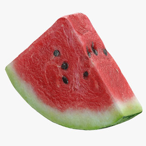 3D watermelon slice 01