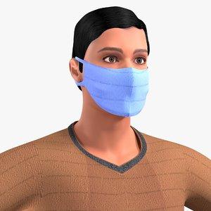 3D model character dressing