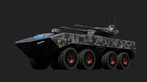 3D space tank model