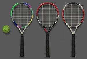 3D games racket ball model