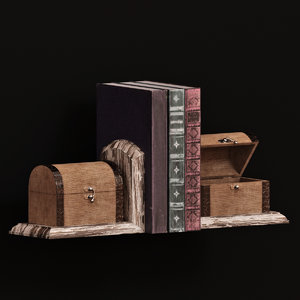 bookends sterling travellers trunk 3D model