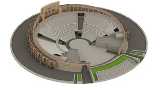 katara amphitheater doha 3D model