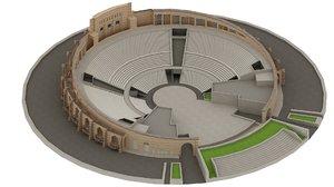 katara amphitheater doha 3D model