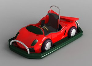 3D bumper cars go-karts toy model