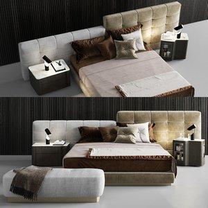minotti lawrence bed pouf model