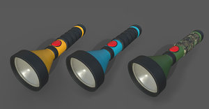flashlight light flash 3D model