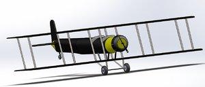 3D biplan model