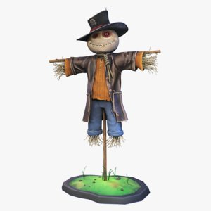 3D model stylized scarecrow
