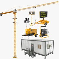 Large Construction Buildings Equipment
