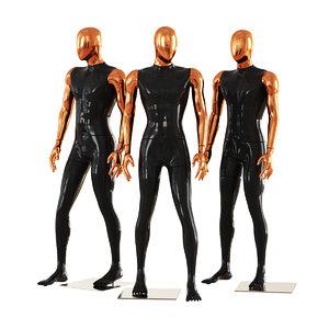 3D faceless male mannequins 42