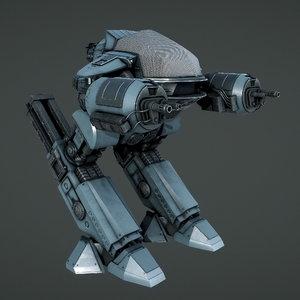 3D ed-209 robot