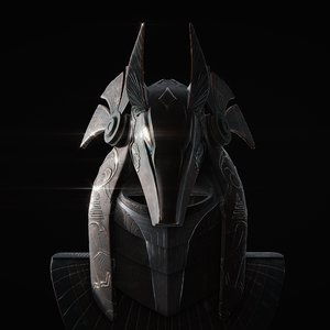 3D model startgate anubis guard helmet
