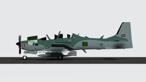 embraer emb super tucano 3D model