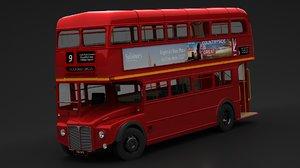 3D model london bus double