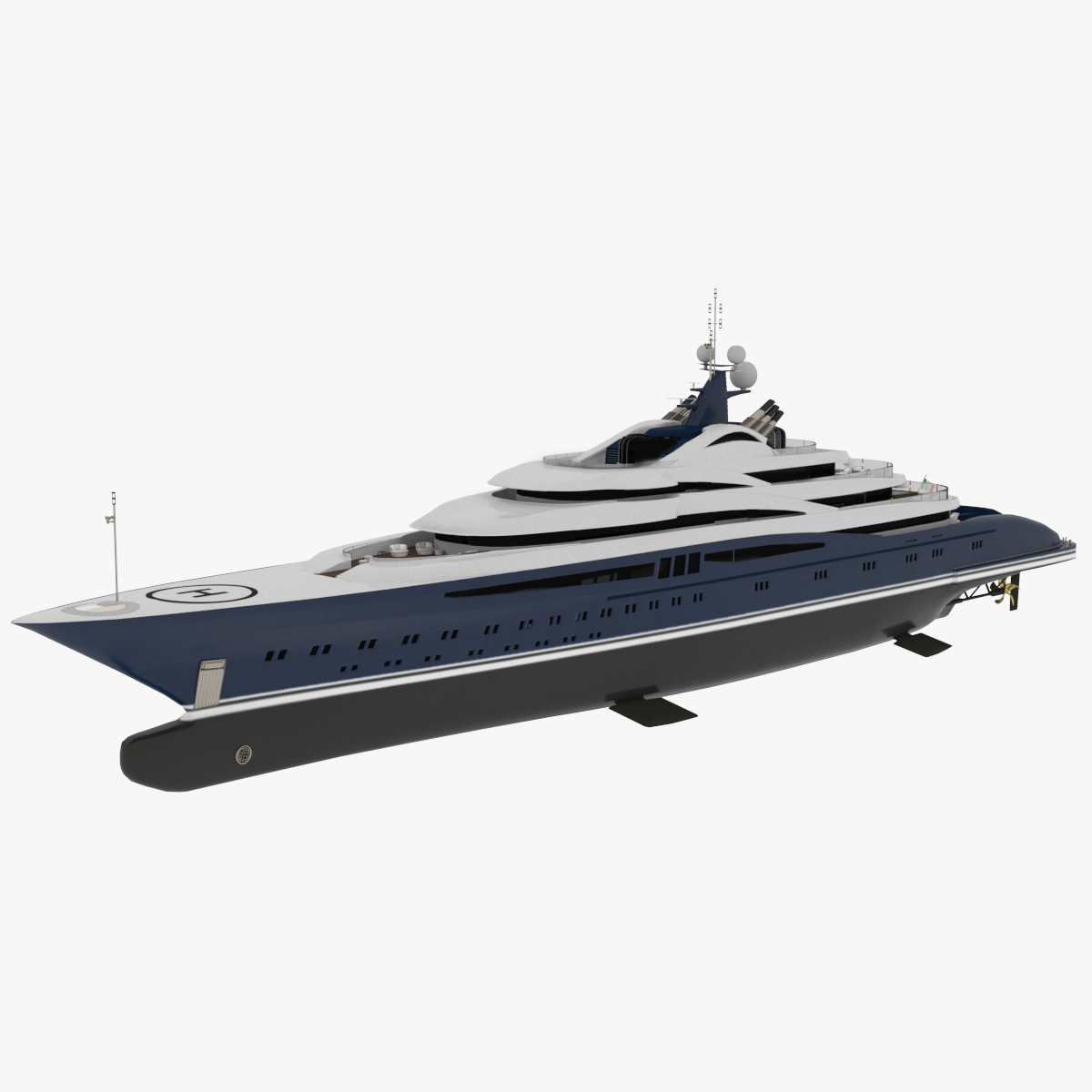 3D vanitas yacht dynamic simulation
