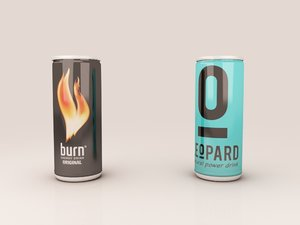 3D model cans energy drink