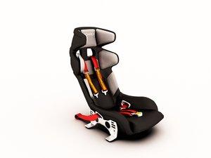 3D race car seat