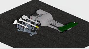 3D drives bomb loader missile