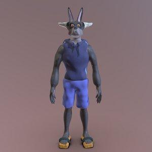 3D monster wolf