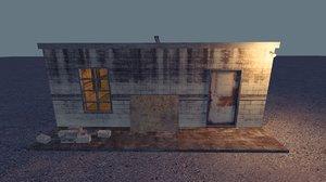 3D old brick shed
