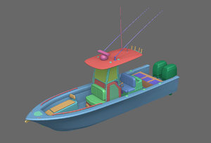 3D model fishing boat