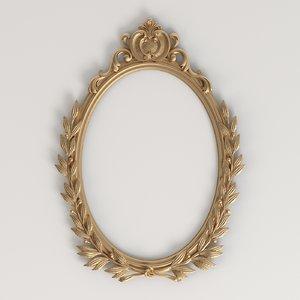 oval carved frame 3D model
