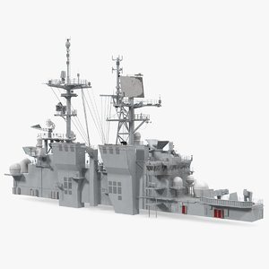 3D model military ship bridge