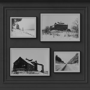 decorative photoframes film winter 3D
