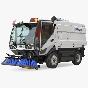 3D johnston cx400 road sweeper model