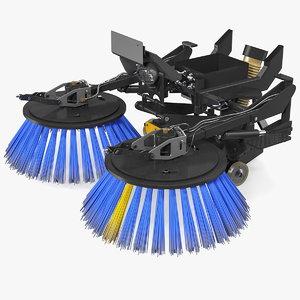 road sweeper brushes mechanism 3D