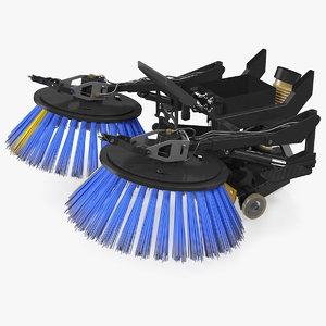 road sweeper brushes mechanism 3D model