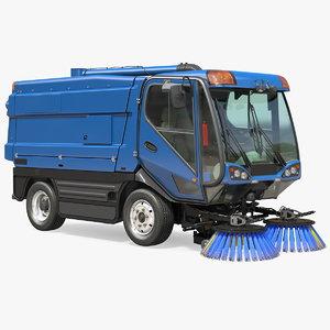 3D model road sweeper vehicle