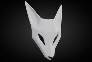 fox mask 3D model