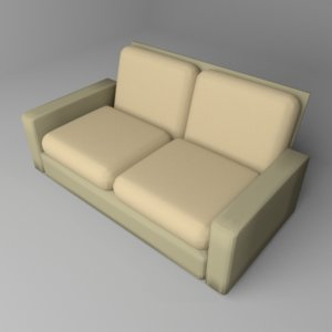 3D model sofa two-seater 1