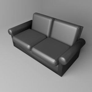 3D sofa two-seater 3 model