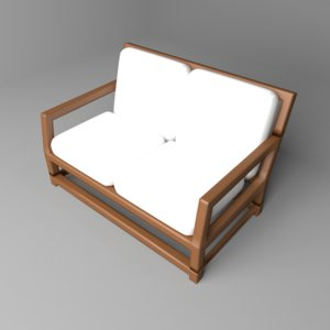 3D sofa two-seater 2
