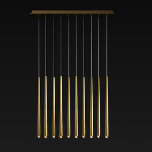 3D linear chandelier