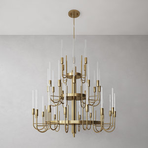 luxxu gala suspension chandelier 3D model