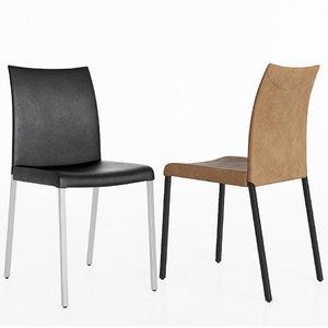 anna dinning chair cattelan 3D model