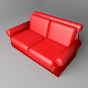 3D model sofa two-seater 10