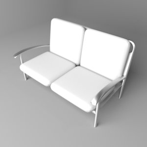 sofa two-seater 7 3D model