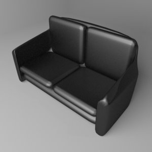 sofa two-seater 8 3D