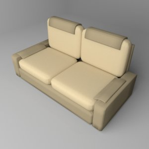 sofa two-seater 6 3D model