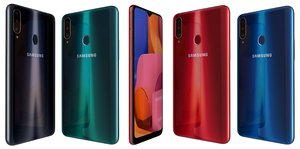 3D samsung galaxy a20s colors model