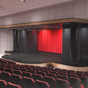 theater room stage 3D model