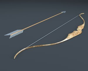 3D medieval bow