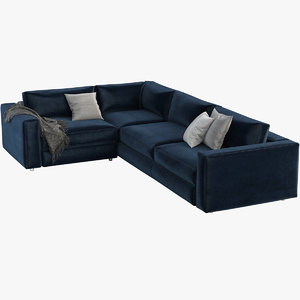 3D model reid sectional chaise